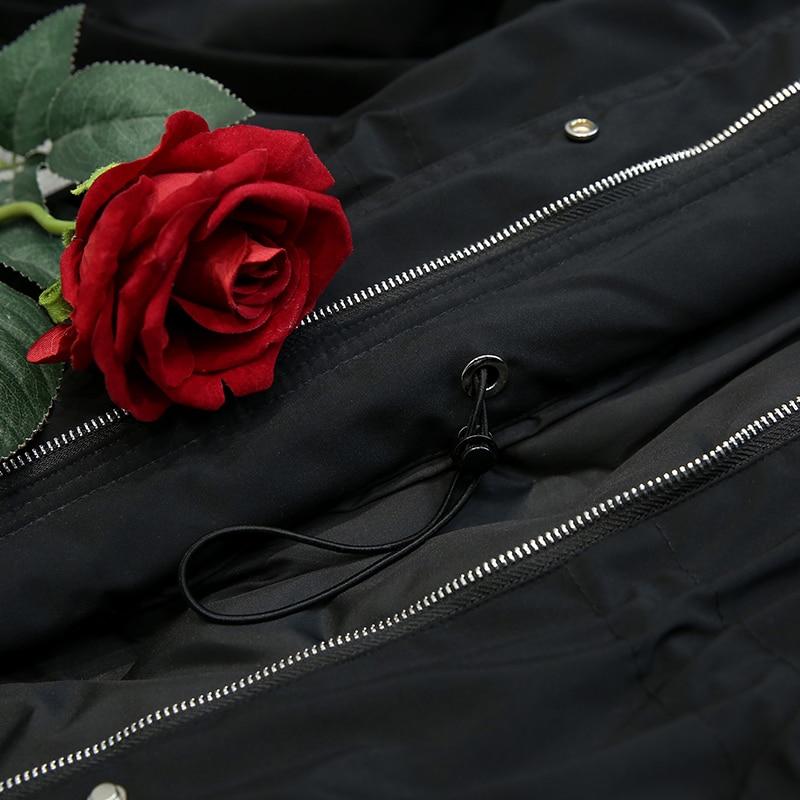 5XL de talla grande abrigo de invierno para mujer 2018 chaqueta de invierno para mujer con capucha acolchada de algodón Parka larga de alta calidad caliente abajo chaquetas p672 - 5