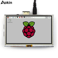 Aokin 7 Inch Capacitive 5 Point Touch Screen 800x480 Tft LCD Display Hdmi Module For Raspberry Pi Support Various Systems