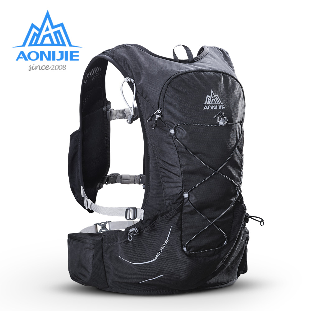 AONIJIE 15L Outdoor Hydration Backpack Rucksack Bag w 2L Water Bladder for Hiking Camping Running Marathon