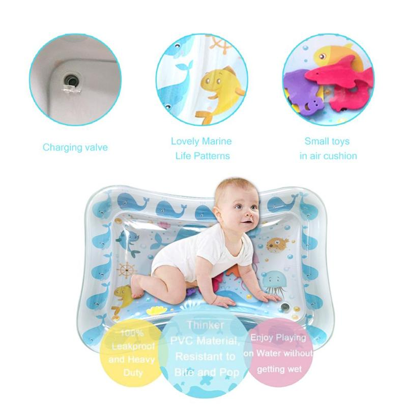 Baby Water Spray Pad Inflatable Water Sprinkling Mat Summer Beach Sand Toys Toys For Children Activity Play Toy