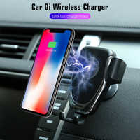 Phone holder Qi Wireless Charging Charger Car Air Outlet Holder for Cell Phone Hand-free Call Anti-slippery Anti-shock
