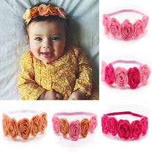 New Arrivals High Quality Rose Flowers Design Hairband Turban Headwear For Newborn Infant Hair Accessories Cute Floral Headwear(China)