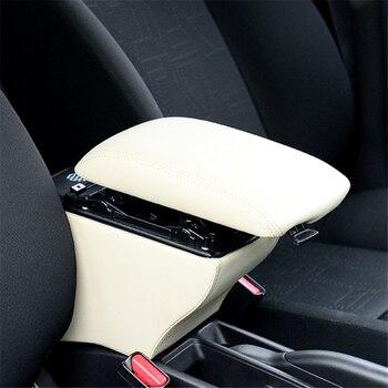 Pièces repose-bras intérieur voiture-style voiture Auto modifié accessoire Automobiles style accoudoir boîte 14 15 16 17 18 pour Honda Fit