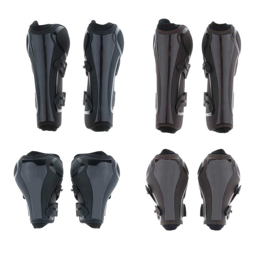 1 Pair Horse Leg Boots Equestrian Front Hind Tendon Protection