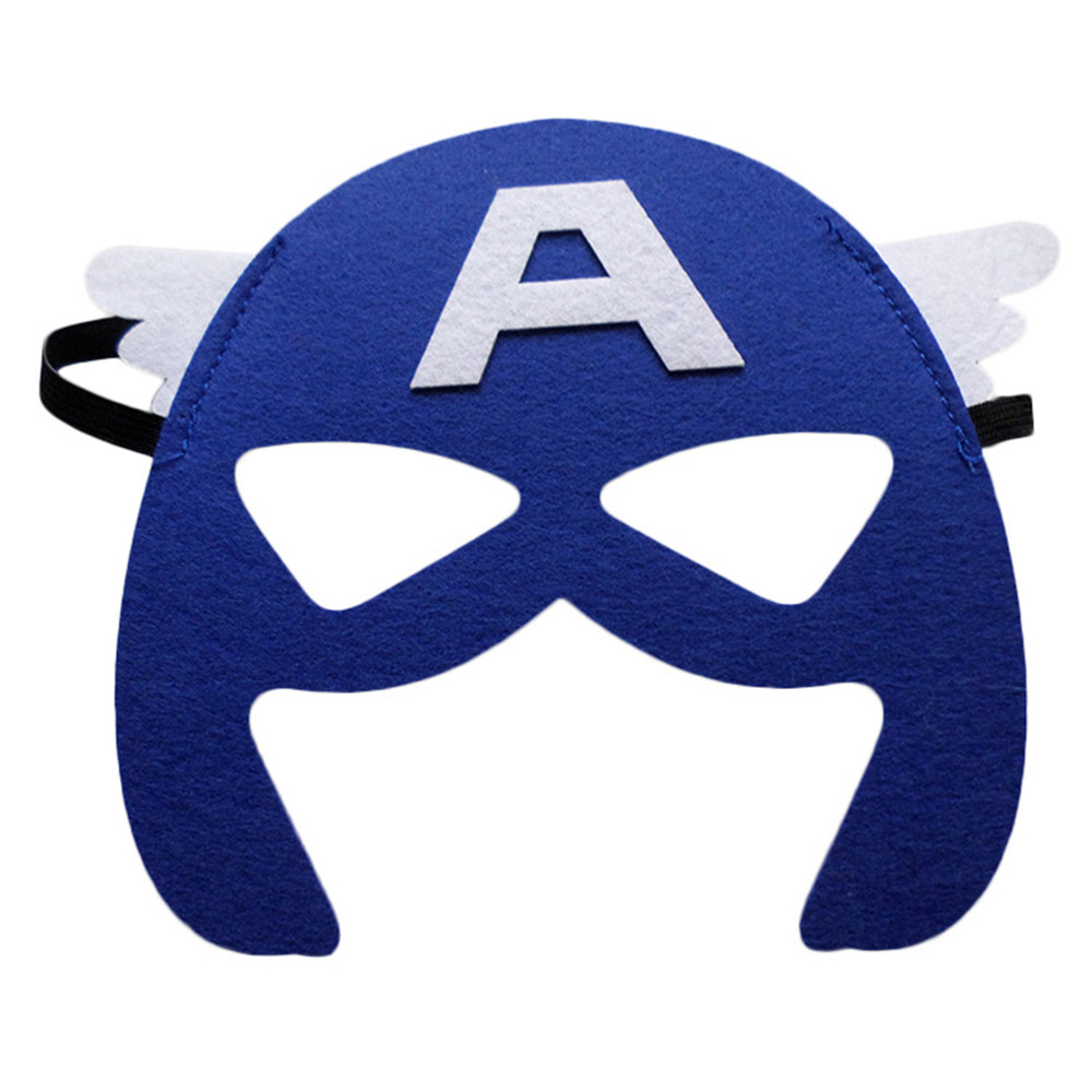 Image 2 - Wholesales 20pcs/lot Super Hero Cosplay Mask Halloween Party Dress up Costume Mask Kids Birthday Party Superhero Cos Favor Gifts-in Party Masks from Home & Garden