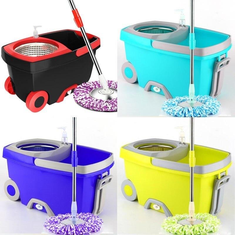 Ménage magique Spin vadrouille seau cuisine salle de bains outils de nettoyage Double entraînement main pression rotative vadrouille nettoyage vadrouille seau