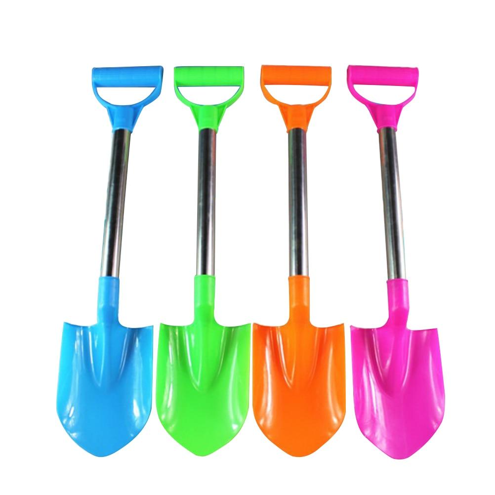 4pcs Lightweight Mini Classic Plastic Sand Shovels Beach Toys Sand Dredging Spade For Children Toddler Kids