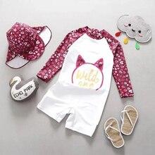 Детский купальник, Цельный купальник для девочек с принтом Миньоны, Бэтмен, детская пляжная одежда с рисунком кота, купальный костюм для малышей