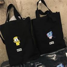 bf592ab0d9b1 Kpop Bangtan Boy BTS BT21 TATA KOYA CHIMMY RJ Embroidery Korean Style Shoulder  Bag Canvas Travel