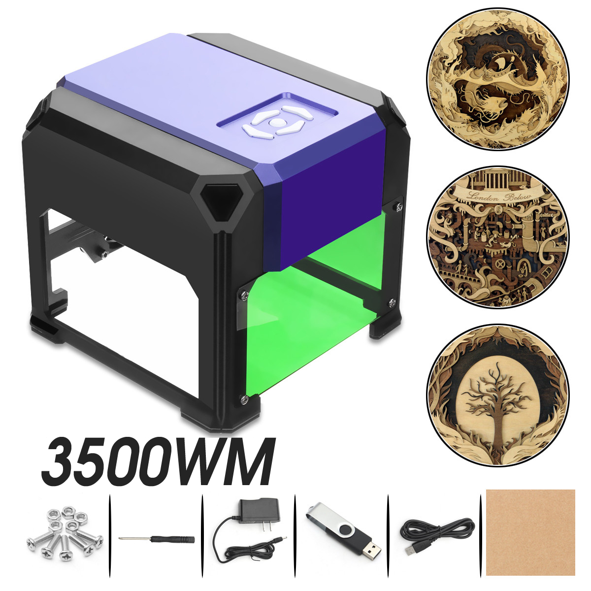 3500mW Mini Desktop Laser Engraver Printer DIY Logo Marking Cutter USB Engraving Range CNC Laser Carving Machine For WIN 80x80mm3500mW Mini Desktop Laser Engraver Printer DIY Logo Marking Cutter USB Engraving Range CNC Laser Carving Machine For WIN 80x80mm