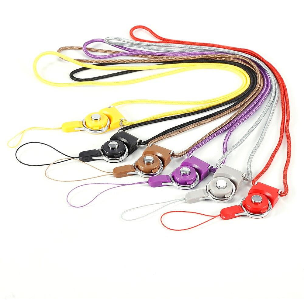Corda portátil de telemóvel 6 cores, para samsung galaxy s6 s7 edge plus iphone 6 plus cordão de pescoço decoração de telefone
