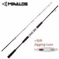 Mavllos MH Superhard Saltwater Fishing Jigging Rod 1.8m 1.68m Lure Weight 80 250g Carbon Boat Spinning Fishing Rod Pole