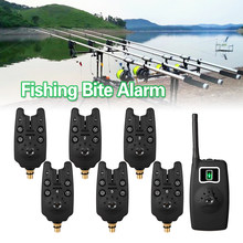 LED Wireless Fishing Alarm Electronic Fishing Alerts Bite Alarm Digital Screen Receiver Fishing Bite Alarms Carp Fishing Bell(China)
