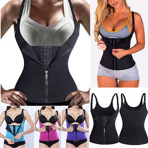 2019 Shaper Neoprene Sauna Sweat Vest Waist Trainer Cincher Women Body Slimming Trimmer Corset Workout Thermo Push Up Yoga Shirt(China)