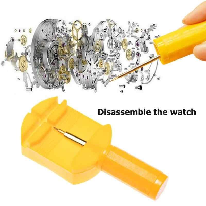 Herramienta de reparación de reloj banda de reloj pulsera de hendidura cadena Pin removedor de eslabones ajuste de la herramienta de reparación