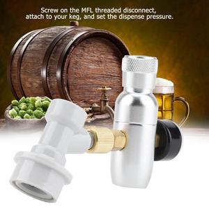 Image 5 - Алюминиевые регуляторы CO2 для домашнего пивоварения, комплект зарядного устройства, мини регулятор CO2 для отключения газа и пива, аксессуары для домашнего пивоварения