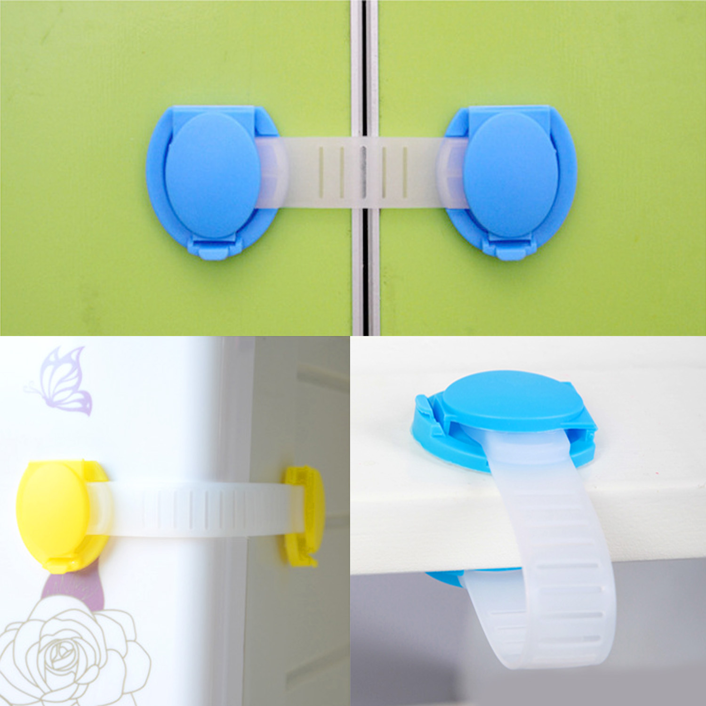 10pcs Baby Safety Locks Cabinet Drawer Door Locker Cupboard Wardrobe Security Buckle Lock Kids Safety Protection Accessories