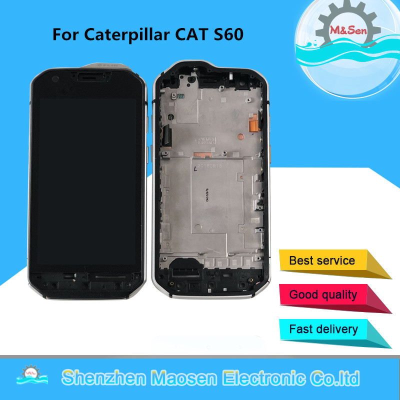 Original M&Sen For Caterpillar CAT S60 LCD Screen Display For Caterpillar CAT S60 Touch Glass Panel Digitizer Screen With Frame