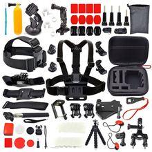 For GoPro Go pro Hero 5 Accessories Set Kit Black Hero 4/3+/3/2 1 крепление vamson vp412 для камеры gopro hero 4 3 2 1