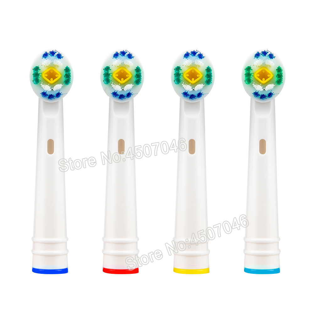 4PCS EB18 3D White Replacement Electric Toothbrush Heads For Braun Oral-B D12 D16 D18 pro1000/2000/3000/5000/7000/8000 etc image