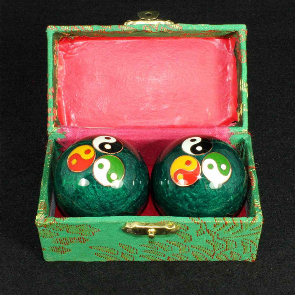 Chinese Health Daily Meditation Balls Hand Finger Exercise Stress Relief Baoding Balls Relaxation Therapy Yin Yang Handballs