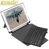 Case For iPad 2018 9.7 W Pencil Holder Wireless Bluetooth 3.0 Keyboard Auto Sleep Wake Case For New iPad 2017 9.7 A1893 A1954