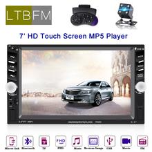 LTBFM 2Din Radio samochodowe 7652D 6 6 LCD dotykowy samochodowy sprzęt audio samochodowe stereo bluetooth usb AUX FM Radio samochodowe stereo z tylną kamerą samochodowy sprzęt audio tanie tanio Tuner radiowy 6 5 W desce rozdzielczej 12 v Angielski 800*480 17 80 x 10 00 x 5 50 cm 0 8kg Metal+Plastics 4*40W~60W*4