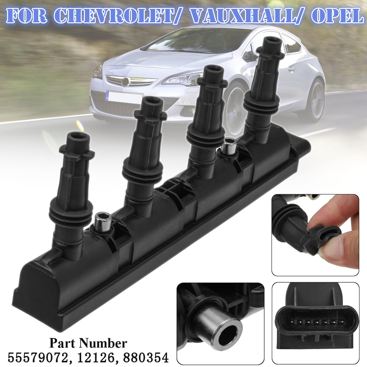 Car Ignition Coil for Chevrolet Orlando Aveo/Cruze Trax J309 T300 J305 J308 1208096 1208093 <font><b>55579072</b></font> 55573735 1208092 55575499 image
