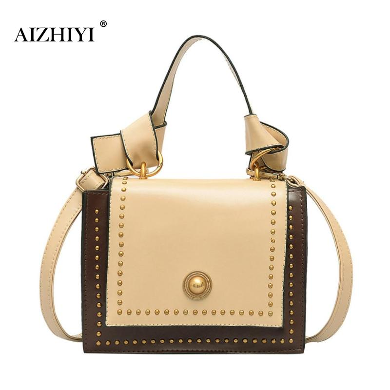 Luggage & Bags Women Fashionable Small Satchel Rivet Crossbody Pu Leather Handbags Women Casual Shoulder Messenger Bags School Hangbag For Girl To Win A High Admiration And Is Widely Trusted At Home And Abroad.