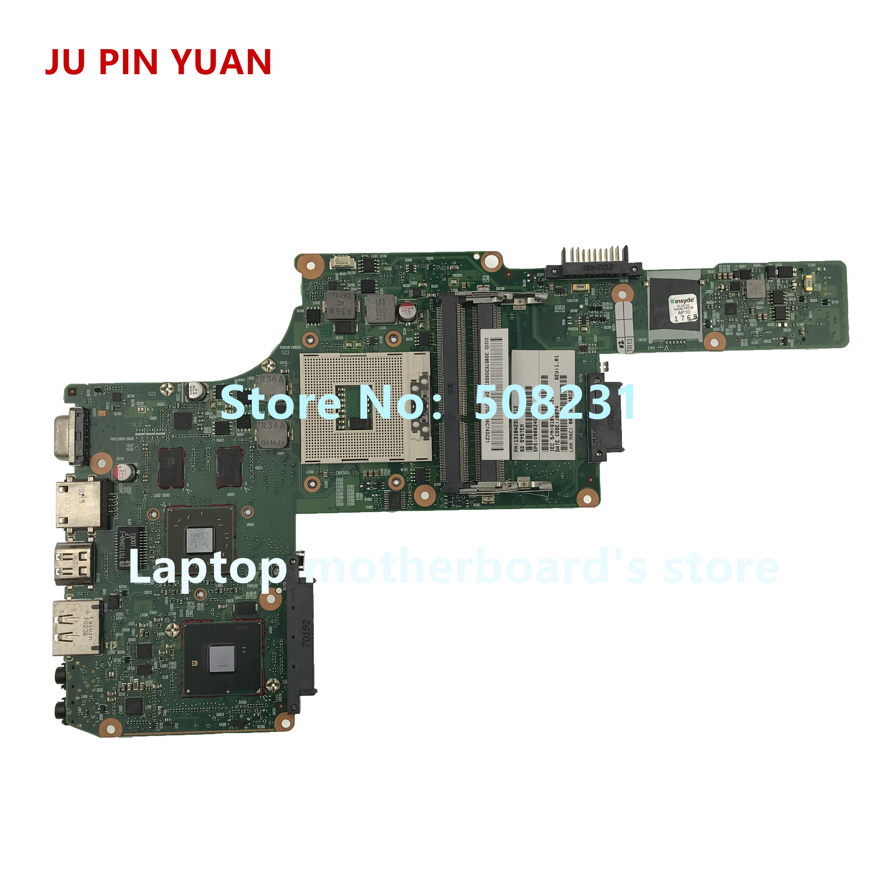 JU PIN YUAN V000245020 6050A2338401 MB A02 mainboard For toshiba satellite L630 L635 Laptop Motherboard fully