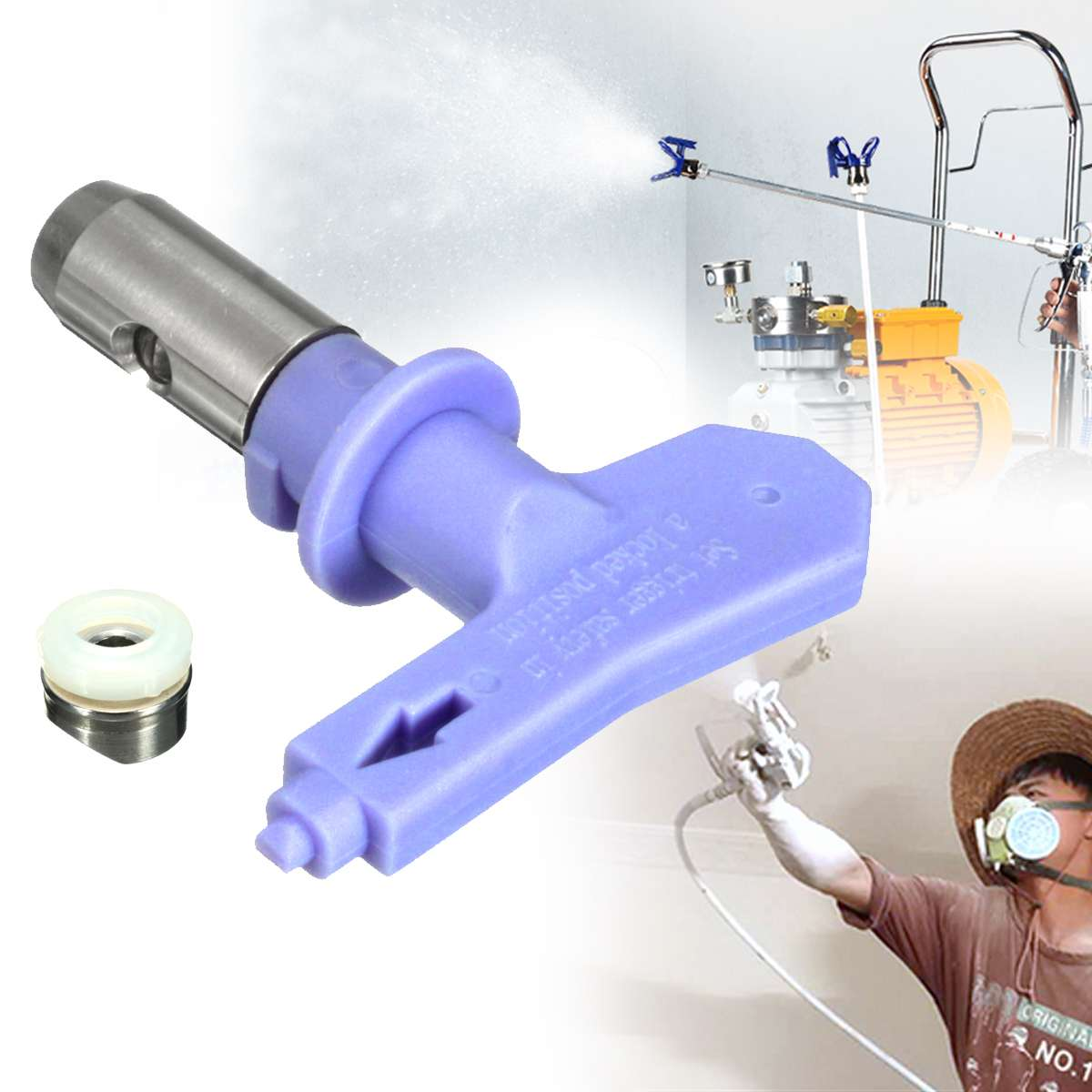 Purple Series 4 Airbrush Nozzle For Painting Airless Paint Spray G Un Tip Powder Coating Portable Paint Sprayer Auto Repair Tool