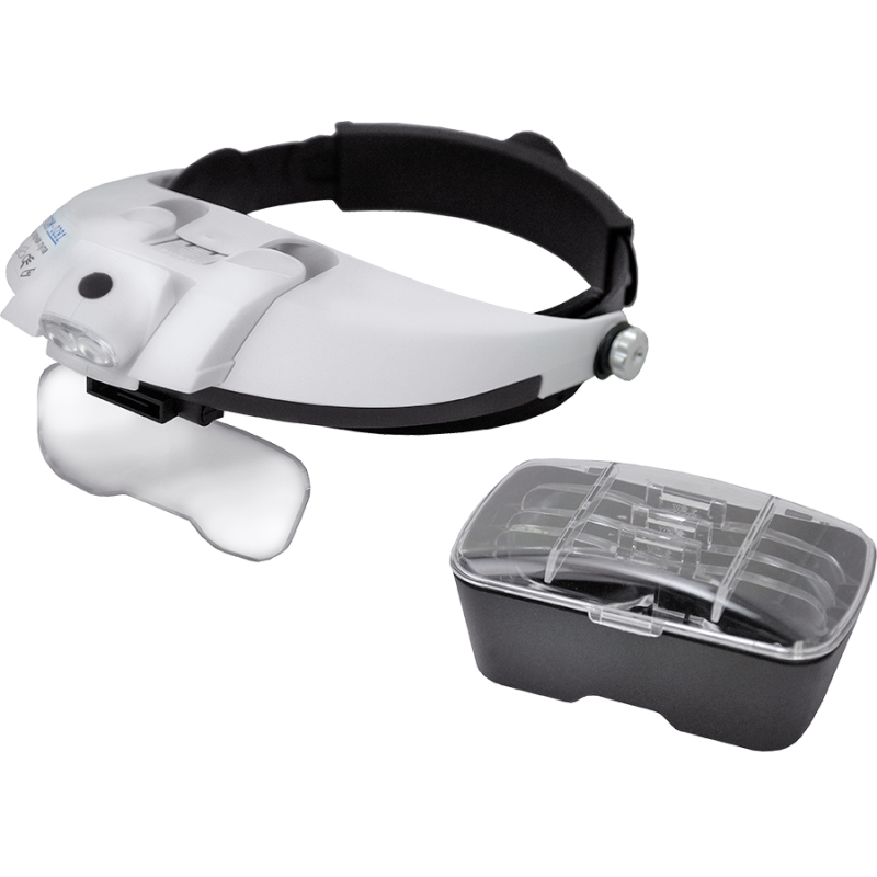 Magnifier MEGEON 2815 monocular magnifier led light with 3 lens magnifier use for hand headset clock repair magnifier equipment