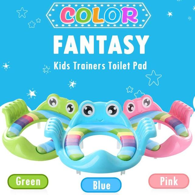 Toilet Training Pad With Armrests Baby Potty Training Cartoon Baby Potty Toilet Seat Ring Girls Boys Toddler Boy Girl Toys | Happy Baby Mama
