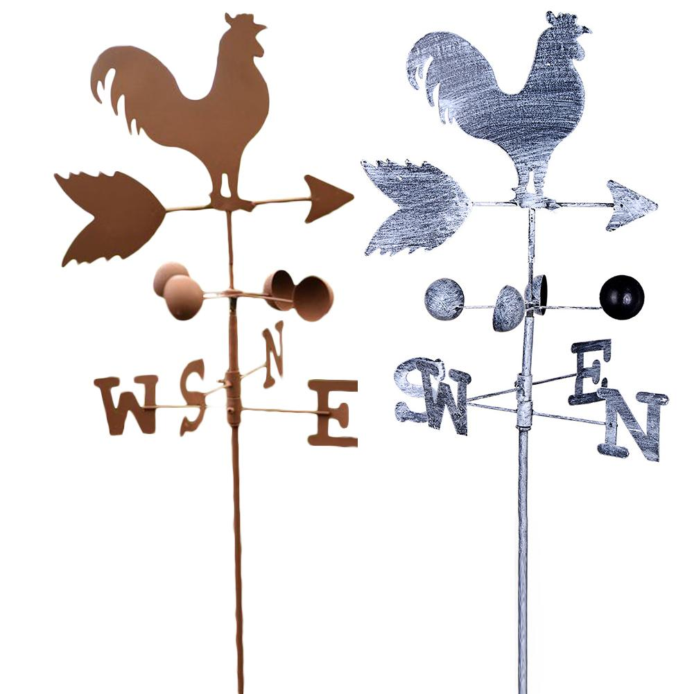 120cm Vintage Rooster Weather Vane Metal Iron Wind Speed Spinner Direction Indicator Garden Ornament Decoration Patio Yard120cm Vintage Rooster Weather Vane Metal Iron Wind Speed Spinner Direction Indicator Garden Ornament Decoration Patio Yard