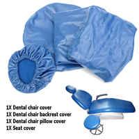 4 unids/set Dental PU Unidad de cuero Dental silla cubierta de asiento cubierta elástica para silla funda protectora impermeable dentista Equipme