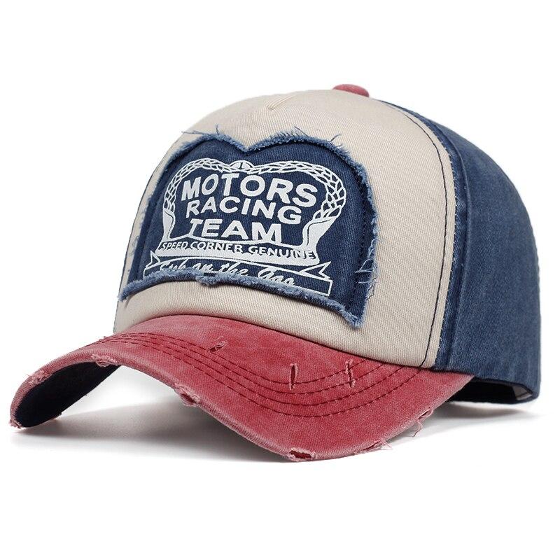 High Quality MOTORS RACING TEAM Patch Print Baseball Cap Cotton% Fashion Snapback Caps Outdoor Casual Hats Hip Hop Hat