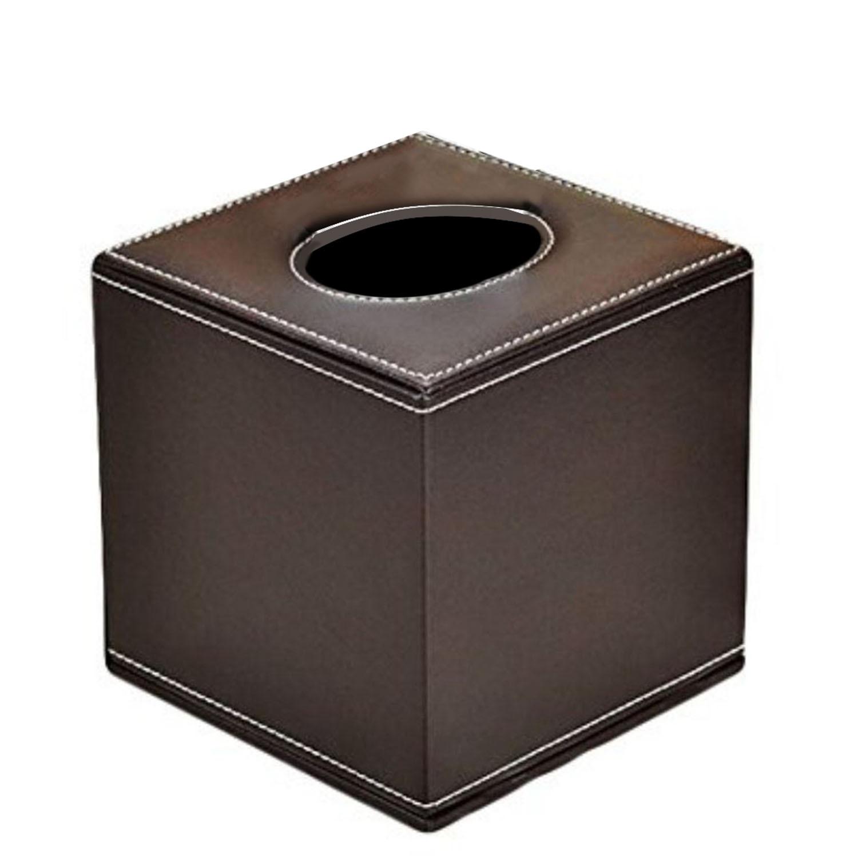 Wooden Tissue Box Cover Container Napkin Case Holder Square Black White Home