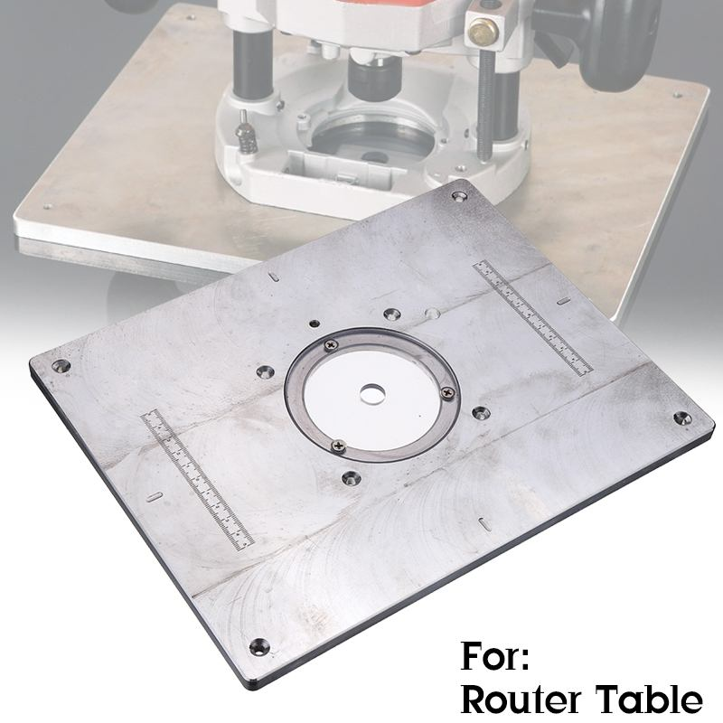 Multifunctional Aluminum Router Table Insert Plate For  Woodworking Engraving Machine Benche  235x300mm