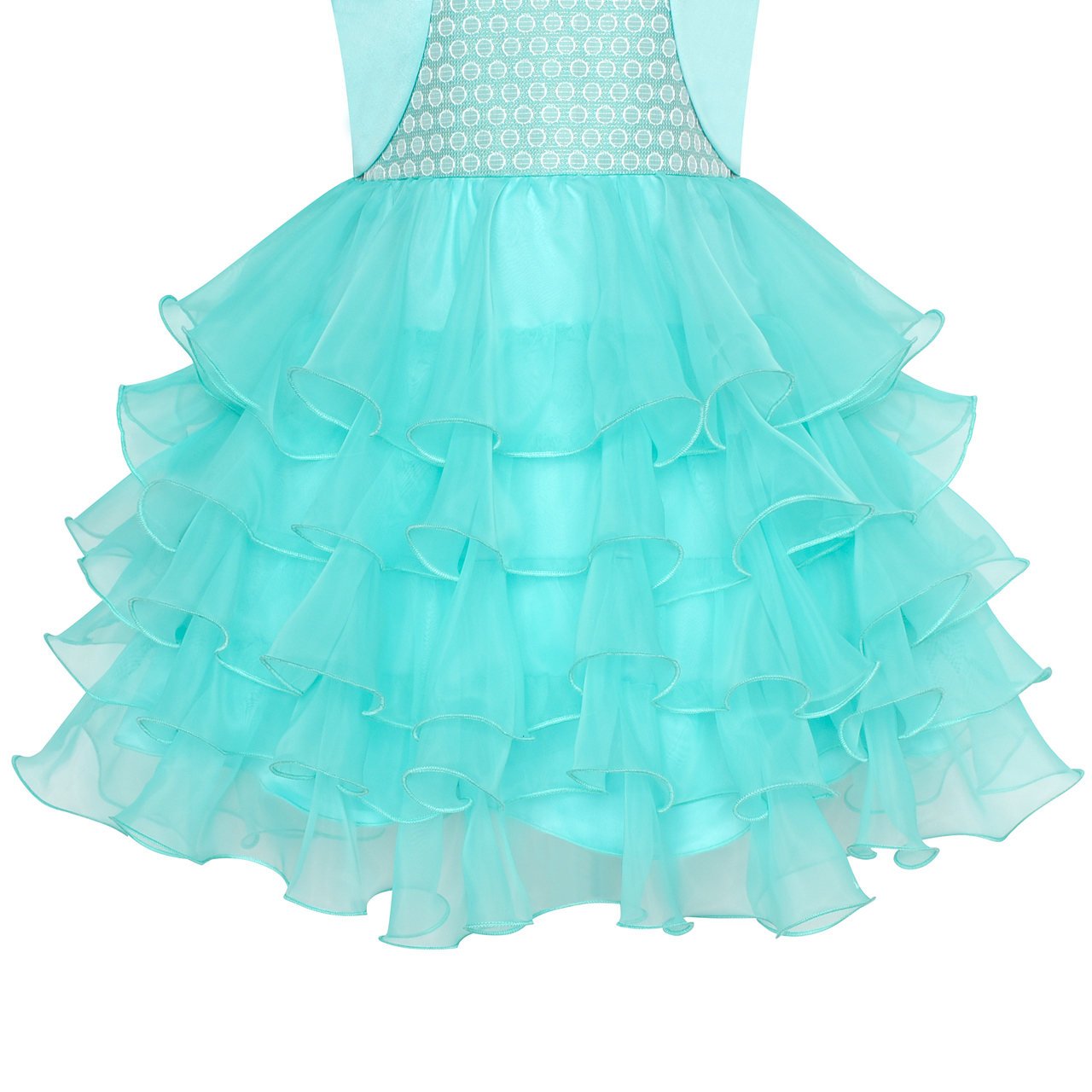 Girls Dress Dancing Girl Print Tutu Short Sleeve Sundress Size 5-10