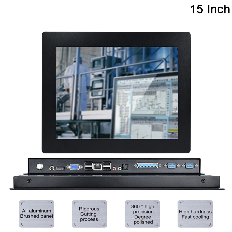 15 Inch Fanless Taiwan 5 Wire Touch Screen ,Industrial Panel PC ,Intel Celeron J1800,Win10 Or Linux All In One PC,[DA09W]