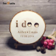 Custom Personalized Ring Pillow Wedding Decoration Rustic Wooden Party Supplies Event Decorations Engagement Holder