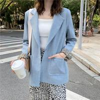 Fashion Women Blazer Long Sleeve Office Ladies Suit Coat 2019 Spring Autumn Loose Jacket Vintage Women blazers high quality