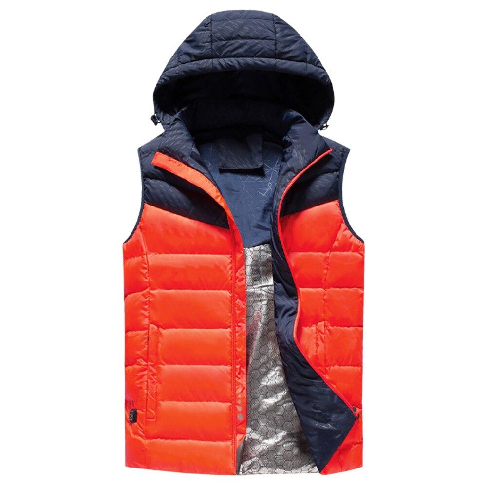 Usb chauffage gilet chauffé à capuche veste plus chaude Intelligent USB ski gilet pour Wniter extérieur équitation ski pêche unisexe