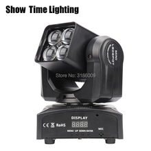 dj light disco mini Led zoom beam moving head spot light 4pcs RGBW 4 IN 1 moving head Use for KTV DJ Party lite Show Time Light цены онлайн