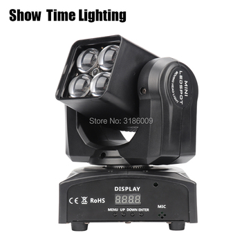 dj light disco mini Led zoom beam moving head spot light 4pcs RGBW 4 IN 1 moving head Use for KTV DJ Party lite Show Time Light can charge mini both head energy saving originality led to beam the lantern show meeting wireless move downlights lo463