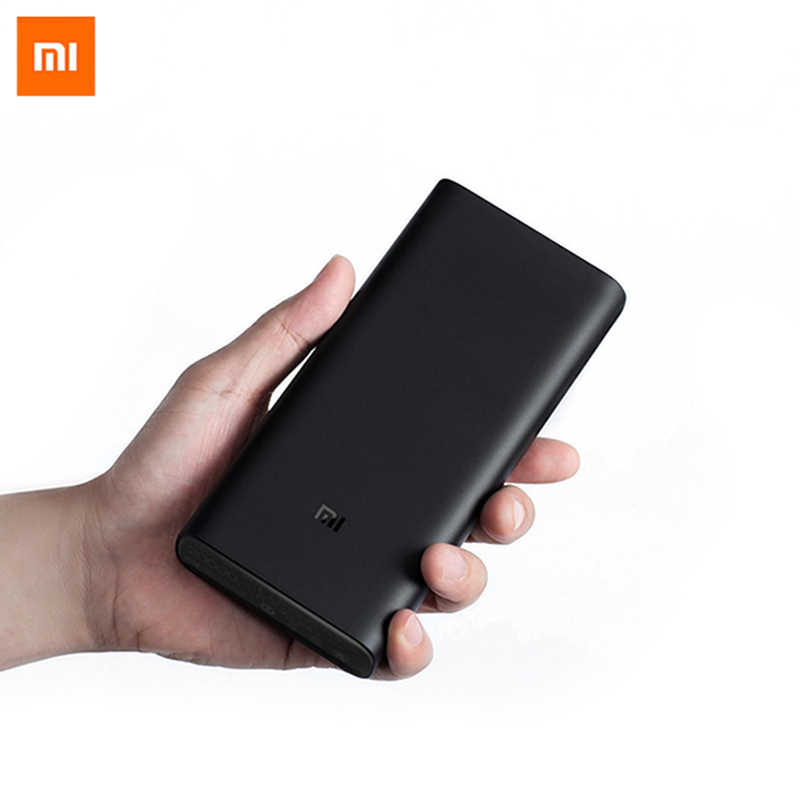 باوربانك شاومي Mi 3 20000 mAh PLM07ZM QC3.0 باتجاهين سريع الشحن 45 واط 20000 مللي أمبير في الساعة USB-C باوربنك للهواتف الذكية الراقية