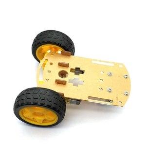 Image 4 - Akıllı Robot araba 2WD Motor şasi/izleme araba kutu kiti hız Encoder pil kutusu ile Arduino Diy kiti için
