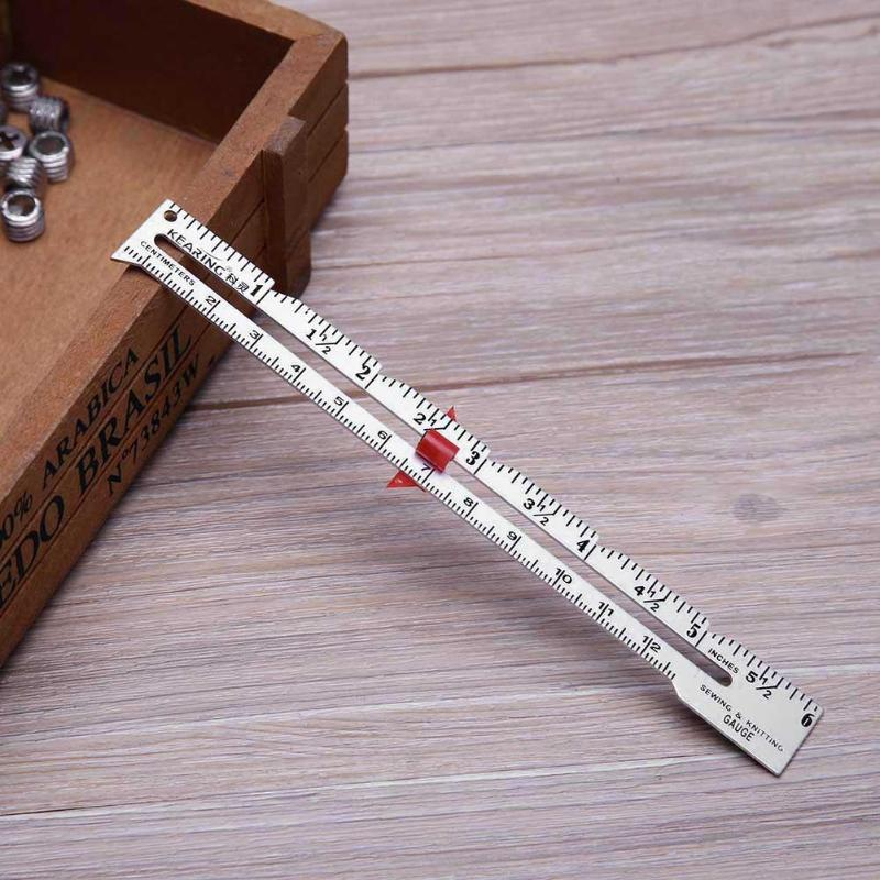 Metal Material Straight Ruler 6'' 15cm Metal Hand Patchwork Ruler Sewing Gauge For Measuring Stitch Length High Quality