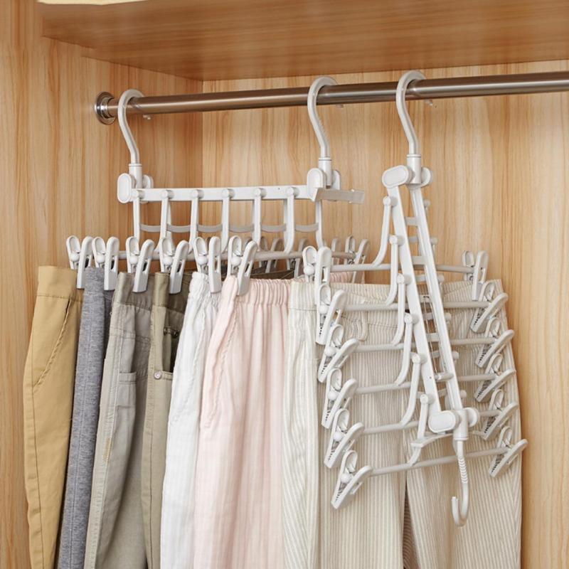 New 3D Space Saving Hanger Magic Clothes Hanger with Hook Closet Organizer Home Tools Closet Organizer Rack Hangers & Racks     - title=