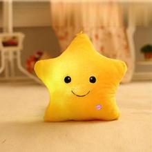 Романтическая светящаяся подушка со звездами, светодиодный светильник, светящаяся Подушка, мягкая подушка для отдыха, подарок, 5 цветов, подушка для тела с улыбкой, украшение для дома